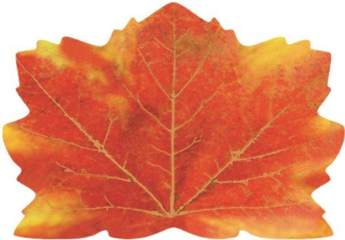 ECP 25 Thanksgiving Placemats Dinner Dining Table Décor -Maple Leaf Shaped Paper Place mats Fall Autumn Harvest Maple Leaves Tablecloth Home Decorations]()