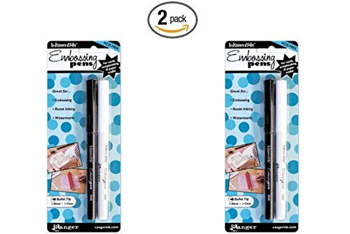 Ranger Inkssentials Embossing Pens, 2-Pack, Black And Clear (2)