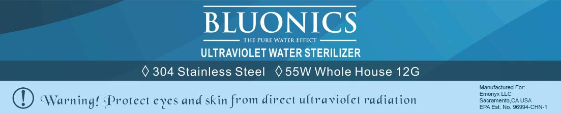 Blounics 55W 12 GPM UV Water Purifier Sterilizer