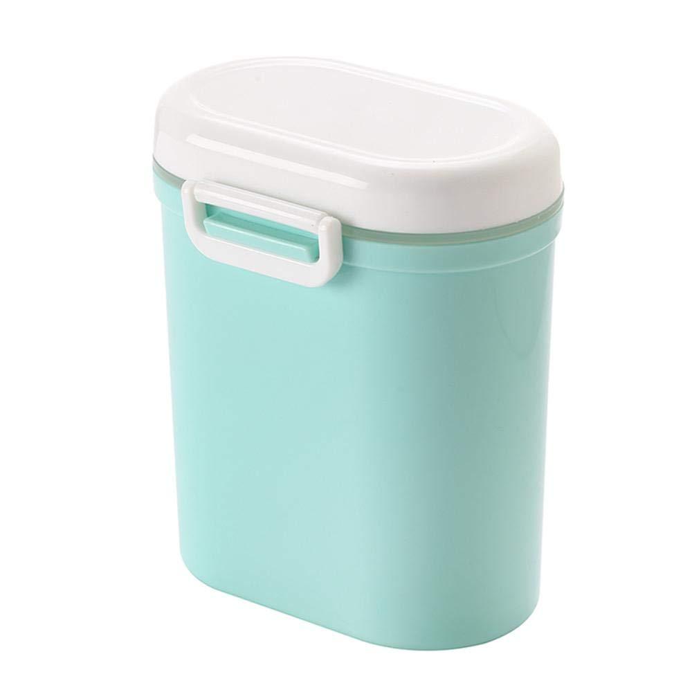 Small Ideal para Viajes de ni/ños y beb/és Azul contenedor de Almacenamiento de Leche en Polvo para beb/és Caja sellada a presi/ón FOONEE Caja de Polvo de Leche port/átil