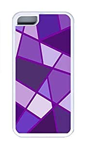 linJUN FENGiphone 4/4s Case, Personalized Custom Rubber TPU White Case for iphone 4/4s - Purple Rhombus Cover