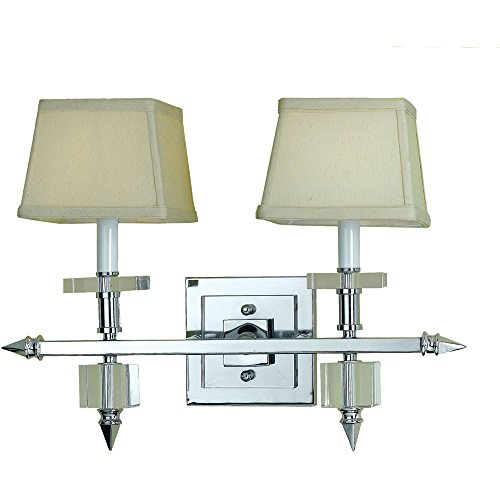 Cluny Accent (AF Lighting 6765-2W Cluny 2-Light Vanity Sconce- Cream Shades)