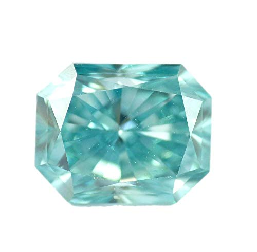 1.37 CT Loose Natural Diamond Fancy Vivid Blue Green VS1 Radiant Brilliant Cut GIA Certified