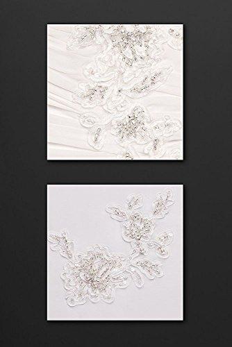 Bianco Stile Sposa V3398 Spalla Da Un Abito Appliques Floreale OpSgZqw
