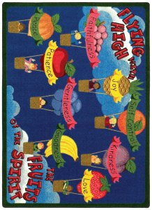 Faith Based Fruits of the Spirit Kids Rug Rug Size: 7'8'' x 10'9'' by Joy Carpets