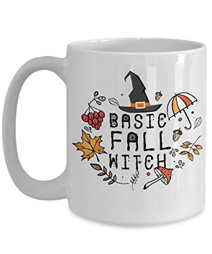 Costumes Basic Halloween Best (Autumn Mug Basic Fall Witch Funny Office Work Pumpkin Coffee Mugs Best Halloween Costumes Set Sarcasm Gifts Idea for mens womens boys)