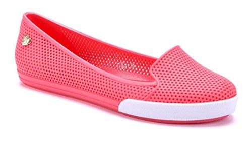 Schuhtempel24 Damen Schuhe Klassische Ballerinas Flach Cut Out Rot