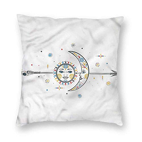 Mannwarehouse Aztec Breathable Pillowcase Tribal Ornaments Art Soft and durableW12 x L12