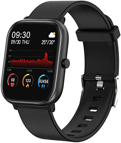 """Fitness Tracker, FirYawee Smart Watch for Android Phones,1.4"""" Touch Screen IP68 Waterproof Smartwatch with Heart Rate Monitor Sleep Monitor, Step/Distance/Calorie Counter Fitness Watch for Women Men 1"""