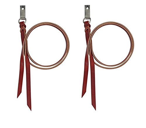 Saddle Clip - Cashel Saddle String 2 Pack Premium Latigo Leather With Attachment Dee