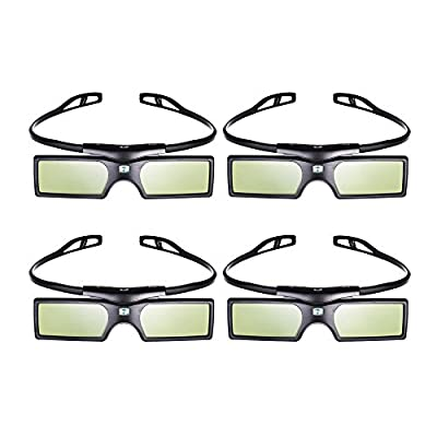Emgreat 4× G15-DLP 144Hz 3D DLP-LINK Active Glasses For Optoma/BenQ/Acer/ LG Projector