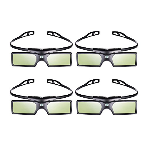 Active Shutter 3d Glasses (Emgreat 4× G15-DLP 144Hz 3D DLP-LINK Active Glasses For Optoma/BenQ/Acer/ LG Projector)