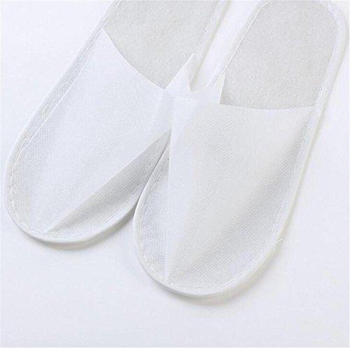 pantofole Pantofole a gettare Hotel non tessuto antiscivolo non tessuto Hotel pantofole a gettone Pantofole per l'ospitalità domestica 10 paia