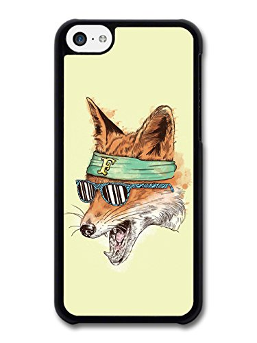 Funny Cool Fox With Sunglasses coque pour iPhone 5C