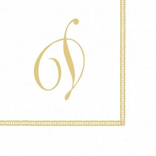Entertaining with Caspari Monogram Initial D Paper Cocktail Napkins, Pack of 20 ()