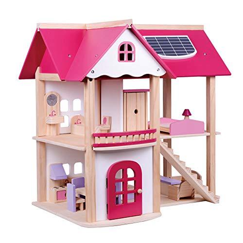 WDXIN Juguete de casa Juegos niños Educativo Casa de muñecas de Madera de Dos Pisos Casa de Juguete Casa de Juguete para...