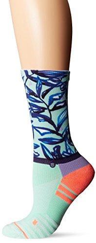 Stance Women's Mint Tree Crew Sock, Seafoam, Medium by Stance
