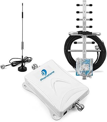 Amplificatore di segnale cellulare,gsm 2G/3G Band8 900MHz 70dB Amplificatore Ripetitore con 2 antenne per Migliorare il segnale del cellulare nel ...