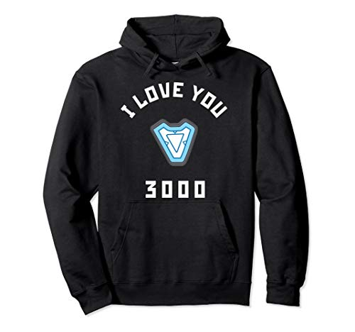 Marvel Avengers Endgame Iron Man I Love You 3000 Arc Reactor Pullover Hoodie