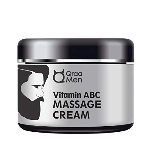 Qraa Men Vitamin ABC Professional Face Massage Cream For Skin Nourishment/Face Cleansing/Skin Repair/Instant Glow, 100 g