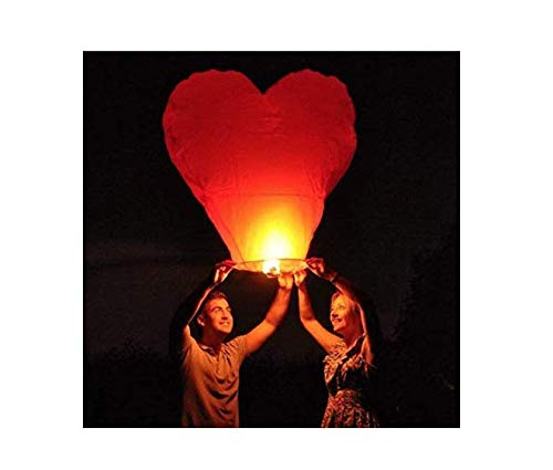Chinese Lanterns Color Heart Chinese Japanese Paper Lantern (10-Pack), Wedding/New Years/Festival by TheRusticWeddingShop.com