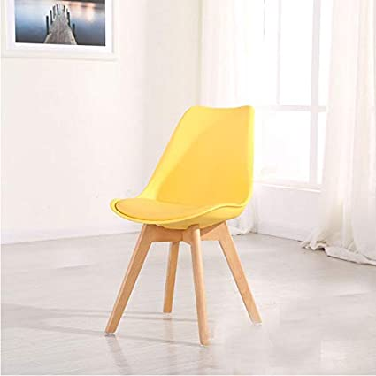 0b1e3f3033ec9 Homy Grigio Dining Chair DSW Dining Chairs Upholstered Side Chairs Mid  Century Modern Side Chairs with Beech Wood Legs, Set of 4 (Yellow)