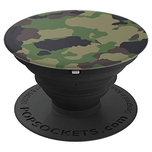 Army Camo Camouflage Pop Socket - PopSockets Grip and Stand for Phones and Tablets