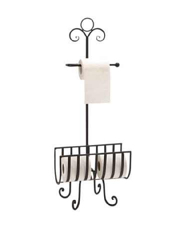 Deco 79 Metal Toilet Paper Holder, 13-Inch by Deco 79
