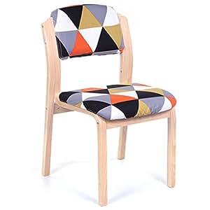 Amazon.com: hcjlrsf silla, gamuza de hogar Cafe silla de ...