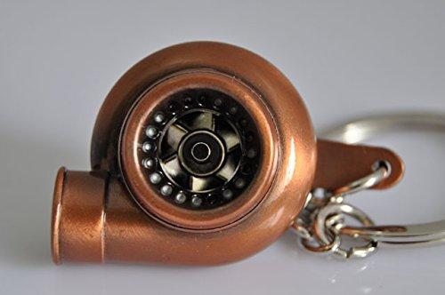 turbo coche marrón turbina elegante llavero llavero en caja de regalo: Amazon.es: Coche y moto
