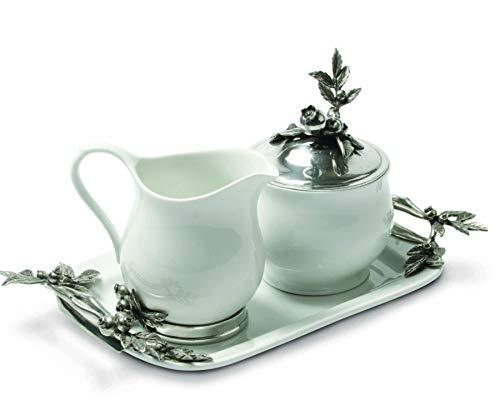 - Vagabond House Stoneware Creamer Set - Pewter Blueberry 12.25