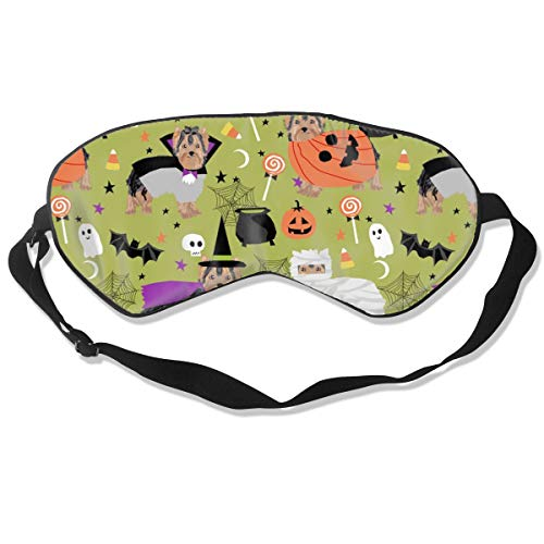 Yorkshire Terrier Yorkie Halloween Costumes Cute D Silk Sleep Mask Comfortable Blindfold Eye mask Adjustable for Men, Women or Kids]()
