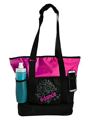 Horizon Dance 8000 Tweet Tote Bag for Dancers - Pink (Pink Microfiber Bag)