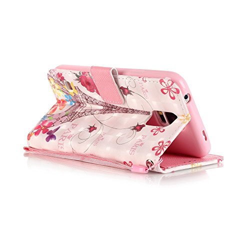 Diamante Funda Galaxy S5 / S5 Neo PU Leather Cuero Cubierta Impresión Libro Carcasa - Sunroyal® Wallet Case [Anti-Arañazos] Flip Cover Brillante Bling Rhinestone Cierre Magnético Función Soporte,Bille A-05