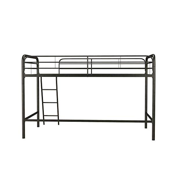 DHP Junior Loft Bed Frame with Ladder, Multifunctional Space-Saving Design 4