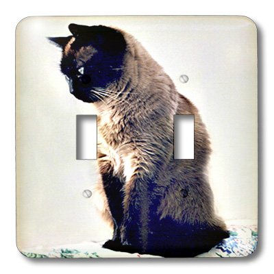 lsp_645_2 Cats - Siamese Cat - Light Switch Covers - double toggle switch