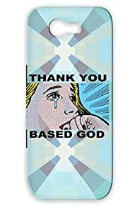 Drop Resistant Thank You Based God Navy For Sumsang Galaxy Note 2 Woman Thank You Lil Music Hip Hop Crying B Based Case