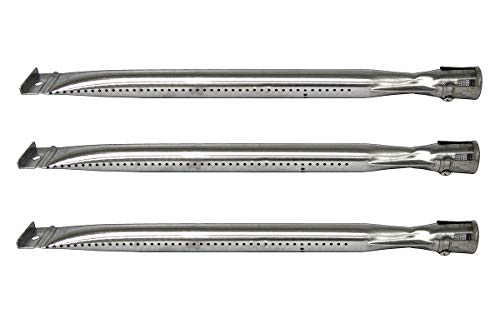 Hongso SBF221 (3-Pack) Universal Stainless Steel Burner for Charbroil 640-01303702-3 and Kenmore 146.16222010, Grill Master, Nexgrill & Uberhaus Gas Grill Models (15″ x 1″)
