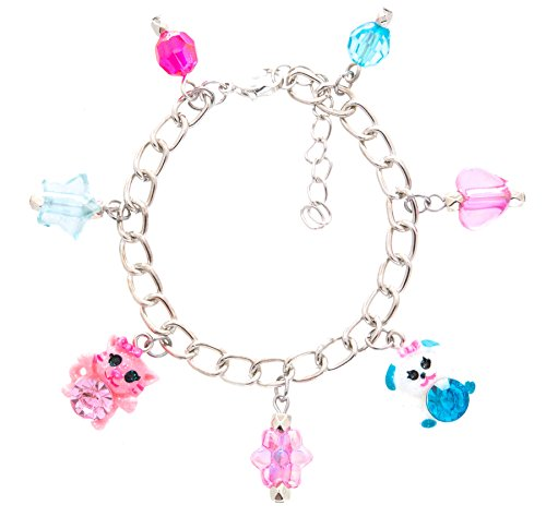 Frogsac Cats and Dogs Glitter Critters Charms Bracelet