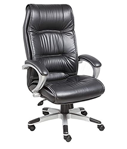 Nice Goods Office Chair with High Back Large Seat and Tilt Function Executive Swivel Computer Chair PU Black