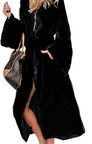 Faux Fur Belted Coat - 4
