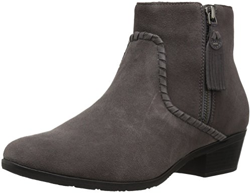 Jack Rogers Women's Dylan Waterproof Ankle Boot, Charcoal Suede, 7.5 M US by Jack Rogers