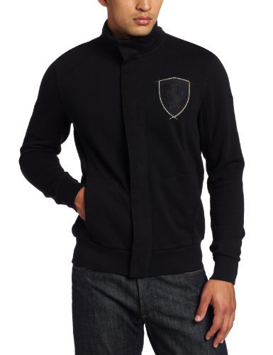 (PUMA Men's Ferrari Sweat Jacket, Black, XX-Large)