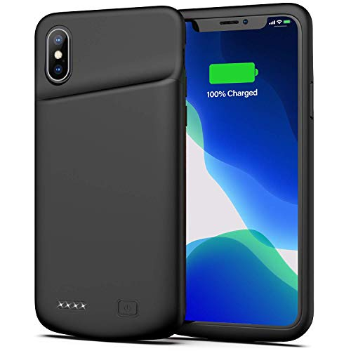 Battery Case for iPhone X/XS, 4000mAh Ultra Slim Protective Charging Case Rechargeable Extended Battery Pack for 5.8 inch iPhone X/XS (Black)