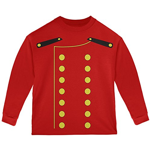 Halloween Hotel Bellhop Costume Red Toddler Long Sleeve T-Shirt - 4T ()