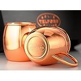 Heavy-Duty Solid Copper Mug - Moscow Mule - Pair