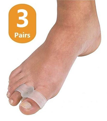 3 Pairs Gel Toe Buddy by Duorui, Toe Separator, Toe Straightener, Gel Cushion