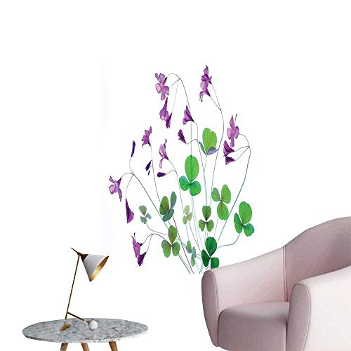 Wall Painting SPR gtime Garden Wildflowers Clovers Theme Graphic White Purple High-Definition Design,24