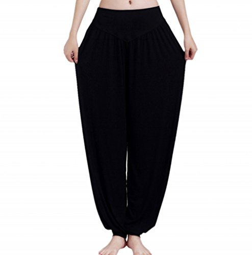 Guandoo Women's 100% Soft Modal Yoga Pants Sports Dance Harem Trousers