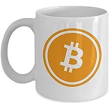 Bitcoin Mug - Cryptocurrency Coffee Mug - Satoshi Nakamoto BTC Mug 11 oz Ceramic Novelty Gift For Supporters Him or Her - By MyCozyCups